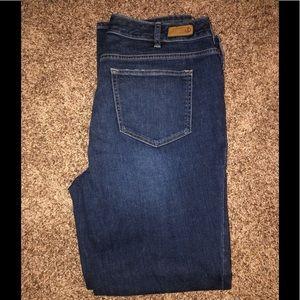 Lands End women's dark wash jeans size 16W EUC